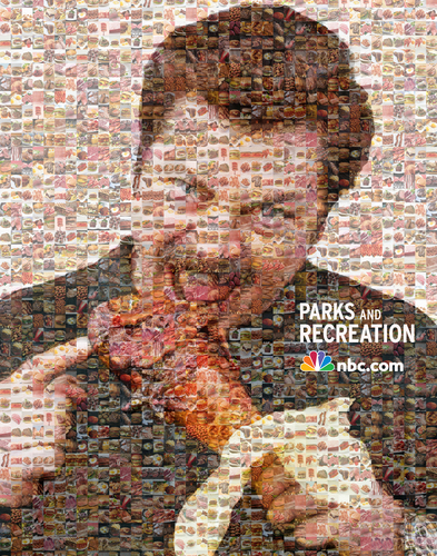 The Ron Swanson mosaïque