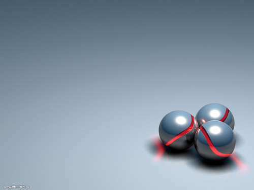 Three steel spheres