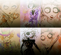 Tim's drawings of Helena and Johnny - tim-burton photo