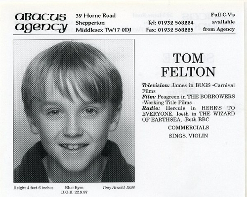 Tom's original agency card