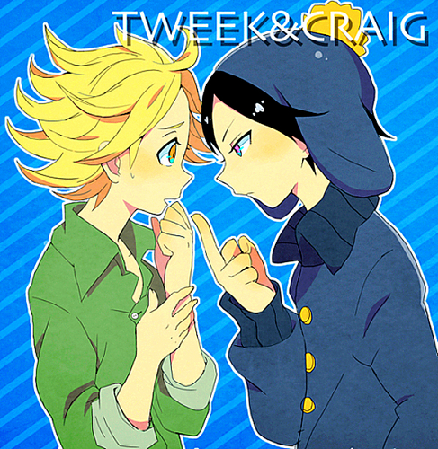 South Park kertas dinding with Anime called Tweek vs. Craig