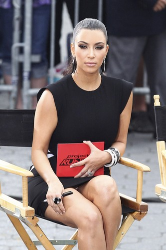 "Kim Kardashian wallpaper entitled Upskirt Candids At ""Project Runway"" In New York"