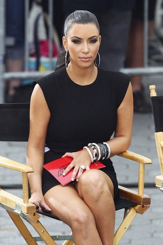 "Kim Kardashian wallpaper entitled Upskirt Candids At ""Project Runway"" In New York"
