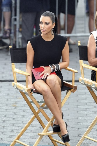 "Upskirt Candids At ""Project Runway"" In New York"