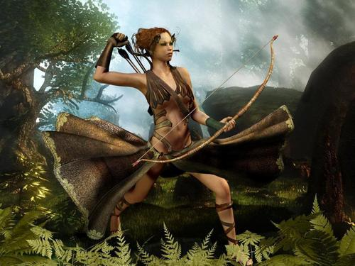 Fantasy wallpaper called Warrior Girl