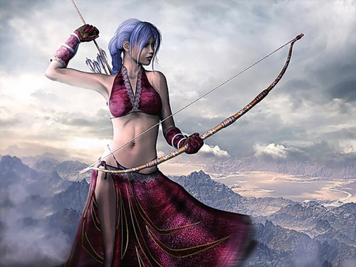 Fantasy wallpaper entitled Warrior Girl