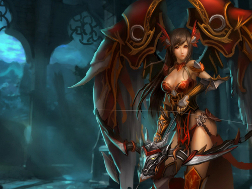 Fantasy wallpaper titled Warrior Girl