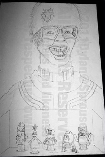 Yo Gabba Gabba Painting Process によって Dylan Sprouse!!