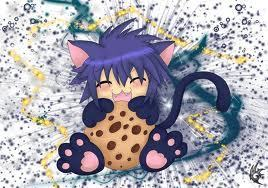 Yoru eating cookie :3