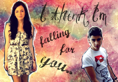 Zayn Malik wallpaper probably containing a sign, a hip boot, and a cocktail dress called Zayn Malik & Gemma Styles (I Fink I'm Falling 4 U) Zemma? 100% Real ♥