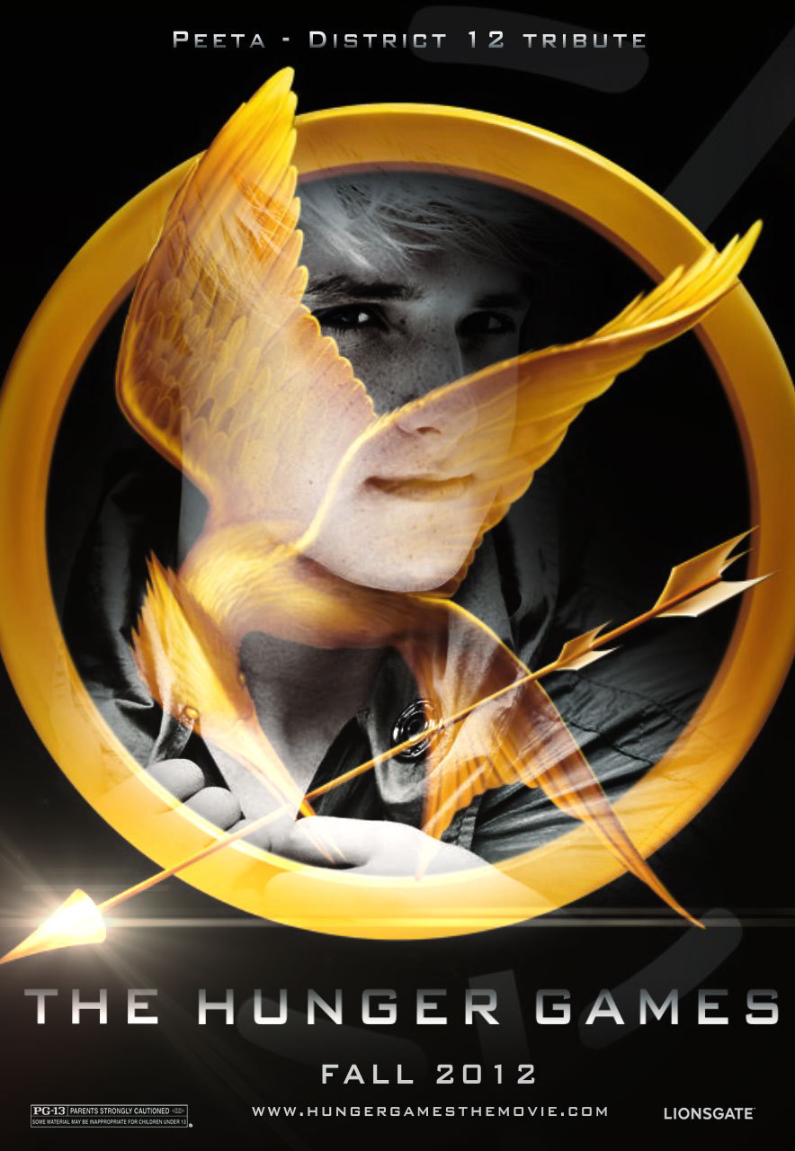 hunger games cast poster - katniss,peeta and gale Photo ...