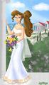 megara as a bride