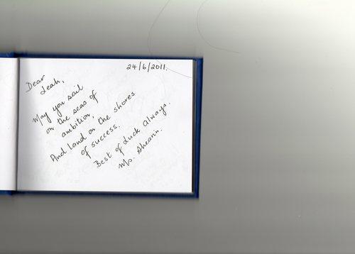 message from my teacher x