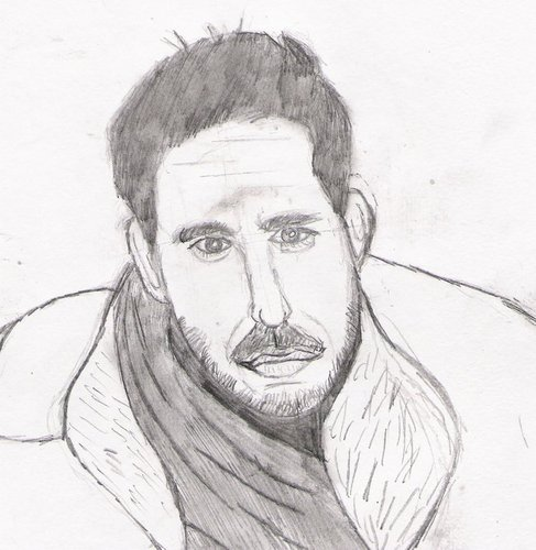 my sketch of Ricky Paull Goldin