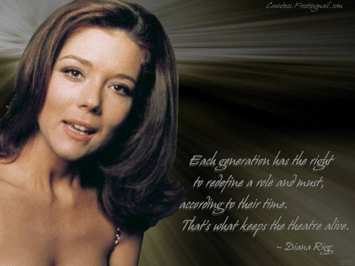 Diana Rigg kertas dinding containing a portrait, attractiveness, and skin titled what keeps the theatre alive
