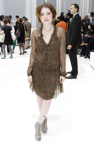Emily Browning: Dior Homme Front Row Paris Fashion Week, June 25