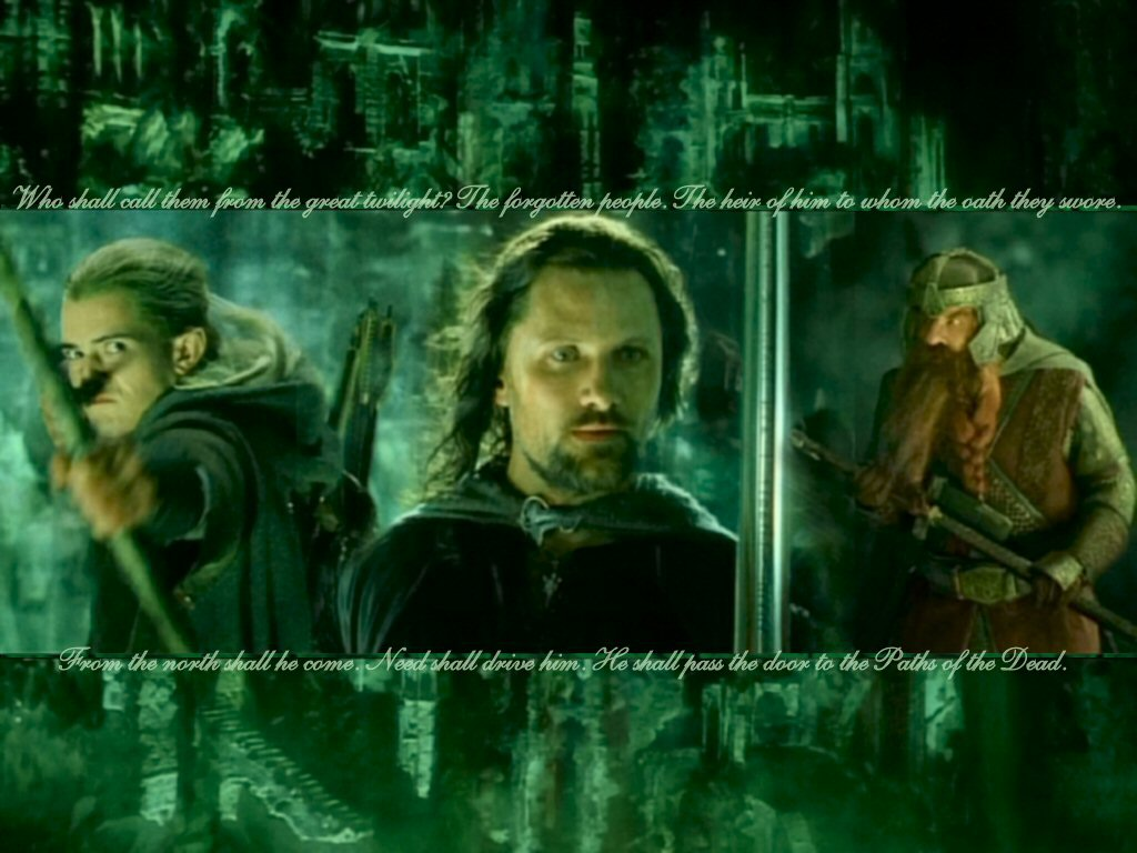 Aragorn, Legolas & Gimli - The Nine Walkers Wallpaper ...