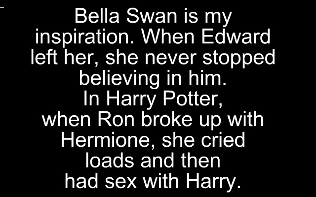 Bella swan is an Inspiration