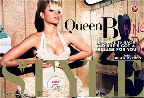 Beyoncé for The Sunday Times Style Magazine June 26th 2011
