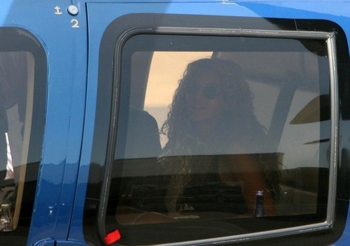 Beyonce and Jay-Z at Battersea Heliport