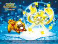 Bidoof and Jirachi - pokemon wallpaper