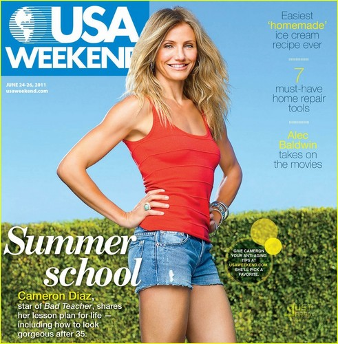 Cameron Diaz karatasi la kupamba ukuta titled Cameron Diaz Covers 'USA Weekend'