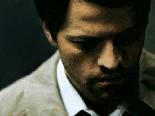 Castiel fond d'écran with a business suit titled Cas - Supernatural