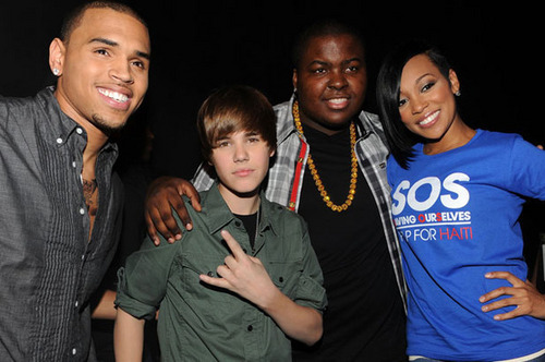 Chris Brown <3 and Justin Bieber and Sean Kingstone