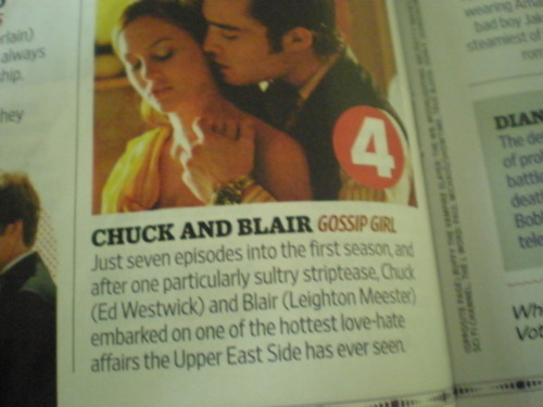 Chuck and Blair are #4 in EW's TV's All-Time Sexiest Couples