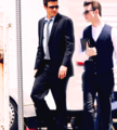Cory & Chris onset of Glee<3 - cory-monteith-and-chris-colfer photo