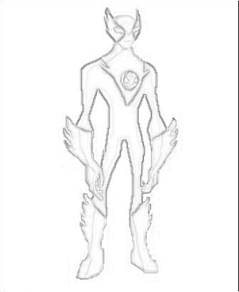 Ben 10: Ultimate Alien karatasi la kupamba ukuta entitled Drawing Of Fasttrack