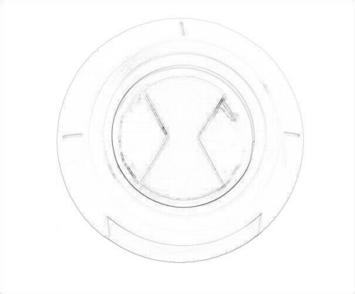 Drawing Of The Ben 10 Ultimate Alien Symbol - ben-10-ultimate-alien Fan Art