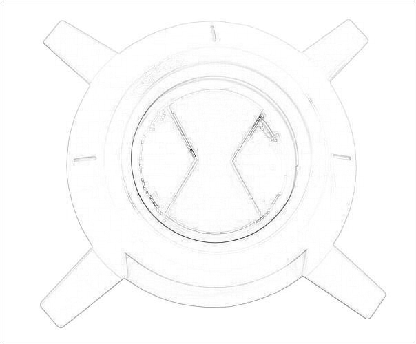 Drawing Of The Ben 10 Ultimate Alien Ultimate Symbol