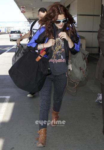 Drew Barrymore departs LAX, June 27