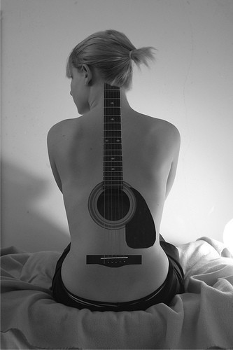 Music wallpaper containing an acoustic guitar called Epic Guitar Tattoo