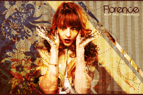 Florence + The Machine karatasi la kupamba ukuta entitled Florence + The Machine shabiki Art