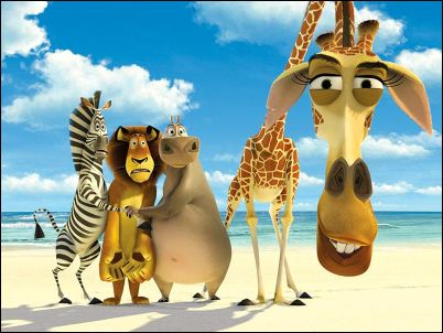 Gloria, Marty, Alex, Melman