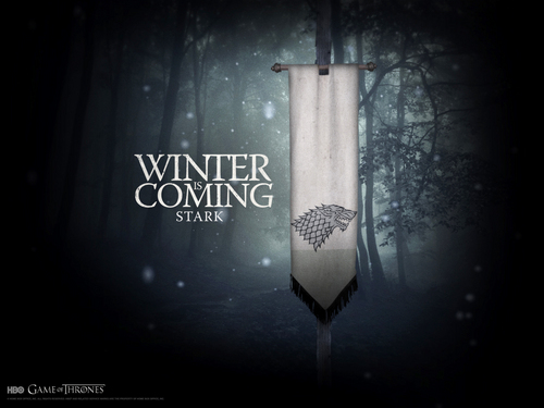 House Stark wallpaper probably containing a sign called House Stark