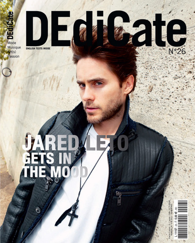Jared Leto wallpaper possibly with a well dressed person and a portrait entitled Jared on the Cover of DEdiCate Magazine