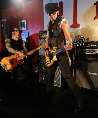 Johnny depp with Alice cooper at '100 Club' - June 26th - 2011