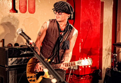 """Johnny performing with Alice Cooper at the """"100 Club"""" in London UK, on 26th June 2011."""