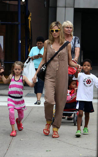 June 23: With Seal and children out and about in NYC