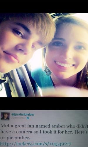 Justin Bieber & fã without a camera