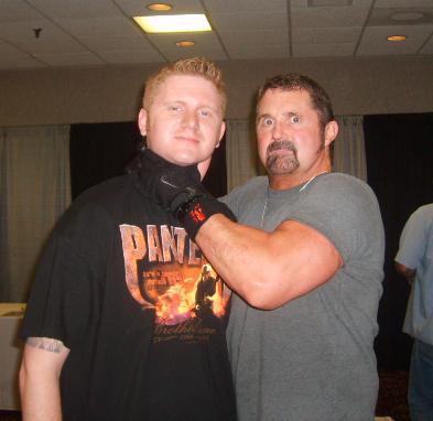 Kane Hodder and fan
