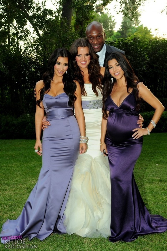Khloe And Lamar 壁纸containing A Bridesmaid Gown 晚餐dress Called Kardashian Odom S Wedding