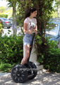 Kylie Jenner on a Segway in Calabasas, June 25