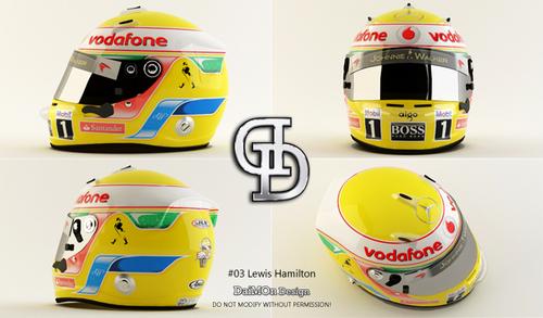 Lewis Hamiltons kofia, chapeo