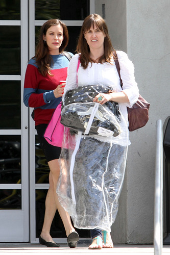 Liv Tyler leaves the Chelsea Lately Show in Hollywood, Jun 28