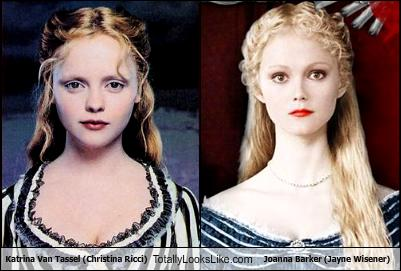 Tim Burton wallpaper containing a portrait titled Look Alike: Katrina & Johanna