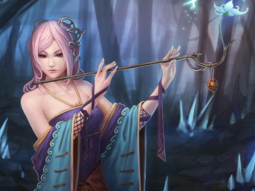 Fantasy wallpaper entitled Magic Flute